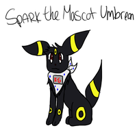 Spark the Mascot Umbreon by Sparkheart1