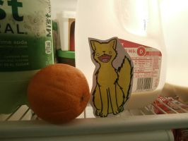 zap paperchild in the fridge by moonlightartistry