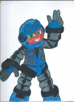 Mighty No.9 fanart: Beck ....finish by andyburgos