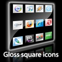 Gloss square icons by N-boy