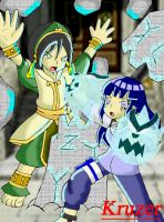 Toph Vs. Hinata 2012 edition by KCruzer