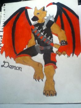 Damon by DakotaWolf1