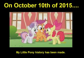 My Little Pony History has been made by YellowNinja123