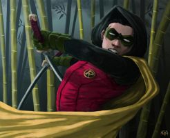 A Duel with Robin (Damian Wayne) by mdm10