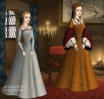Princess Mary Tudor at 6 and 28 by TFfan234