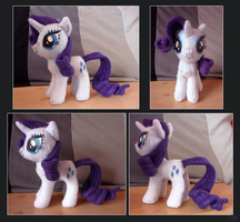 First Pony Plush - Rarity by lazyperson202
