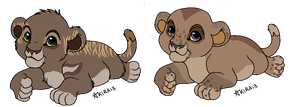 Aliyah and Sefu's cubs by LionPhoenix