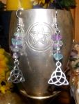 Earrings -  Triquetra - Fluorite by Wilhelmine