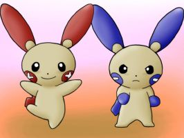 Plusle and Minun