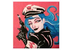 blue haired soldier by 11chad11