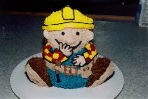 3D Bob the Builder cake by LizzyLix