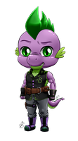 Chibi Anthro Spike by Pia-sama