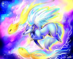 Dance of the Sky Beasts. by Sukesha-Ray