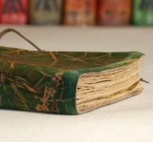 Handmade Green Book by gildbookbinders