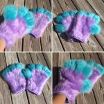 Lavender and Turquoise Handpaws for jacobgoings by DressedAllInFurWorks