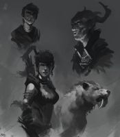 Black and White studies by Raph04art