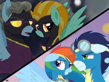Wonderbolts vs. Shadowbolts by PimpArtist101
