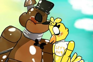 Freddy X Chica by nycolys
