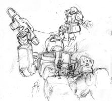 Sketch: Downed GM by Darcad