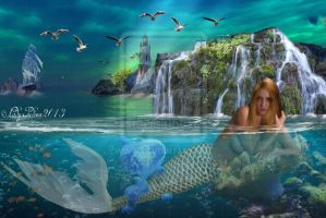 Mermaid Bay 4 - Mermaid obol 4 by ladyjudina