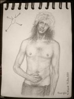 George Lynch wearing a towel 1984 to 2011 by PriestessCharis