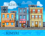 Pixel art city background by Kimyri