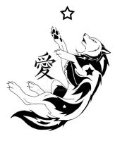 Kanji Night Wolf Love by Deazea