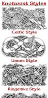 Knotwork Styles by Feivelyn