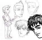 Green Day - Sketchdump 1 by kelly42fox