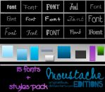 Fonts and styles by originaldixia