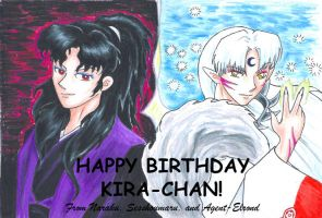 Birthday Youkais for Kira by GoldeenHerself
