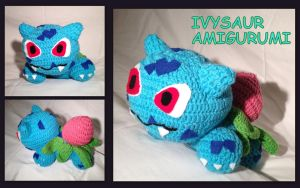 Ivysaur Amigurumi by CeltysShadow
