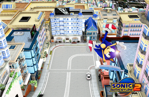 Sonic Adventure 2 Wallpaper: Escape From The City by Mike9711