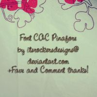 Font CAC Pinafore by itsrockersdesigns