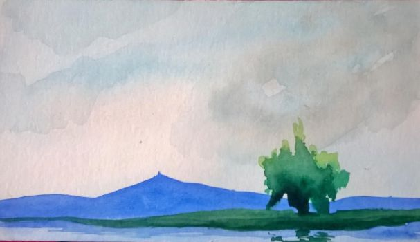 Watercolor - Second Landscape by SuperTurok