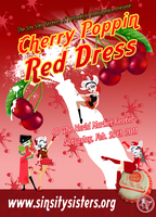 Sin Sity Sisters Cherry Poppin Red Dress poster by JeffreyHamesGallery