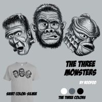 The Three Monsters by roofoo