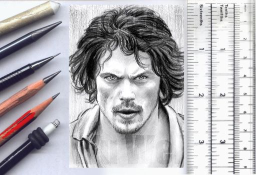 Outlander sketchcard by whu-wei