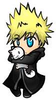 Roxas and a Kitty by Doggy-san