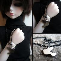BJD Bird Necklace by symphon1c