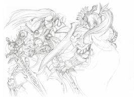Untitled Arthas Vs. Varian WIP by Executor-Haruko