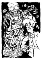 Doctor's Halloween BW by Clone-Artist
