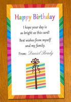 Birthday Card Template by danbradster