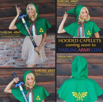 Link Legend of Zelda Cosplay Hooded Capelet by DarlingArmy