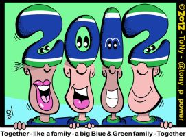 Blue and Green (ToNy) Togetherness by tony-p-power