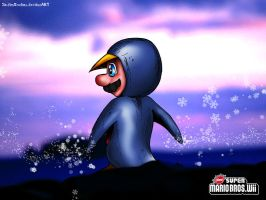 Mario's Adorable Penguin Suit by PaulistaPenguin