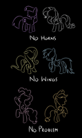 No Horns, No Wings, No Problem by shadowdark3