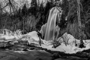 Spearfish Falls in Winter by MikeDaBadger