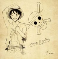 Luffy~ by Elkix