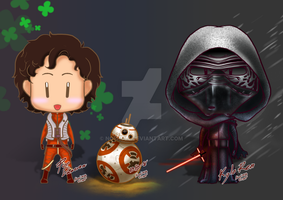 [SW] Chibi Poe BB-8 and Kyio Ren by noei1984